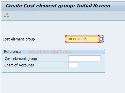 Create cost element group in SAP CO