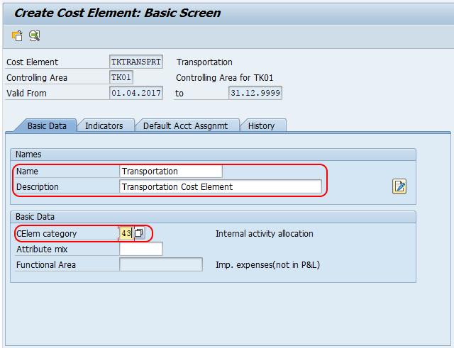 Create secondary cost elements in SAP CO