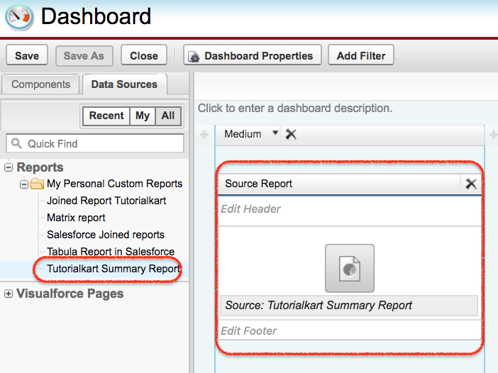 Creating Dashboards in sfdc