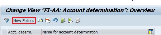 FI AA Account determination