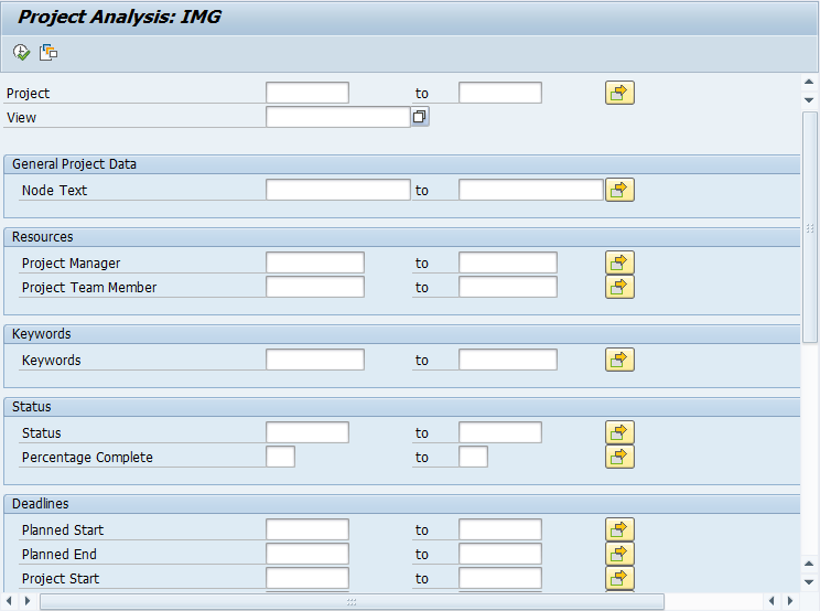 SAP SPRO Project Analysis