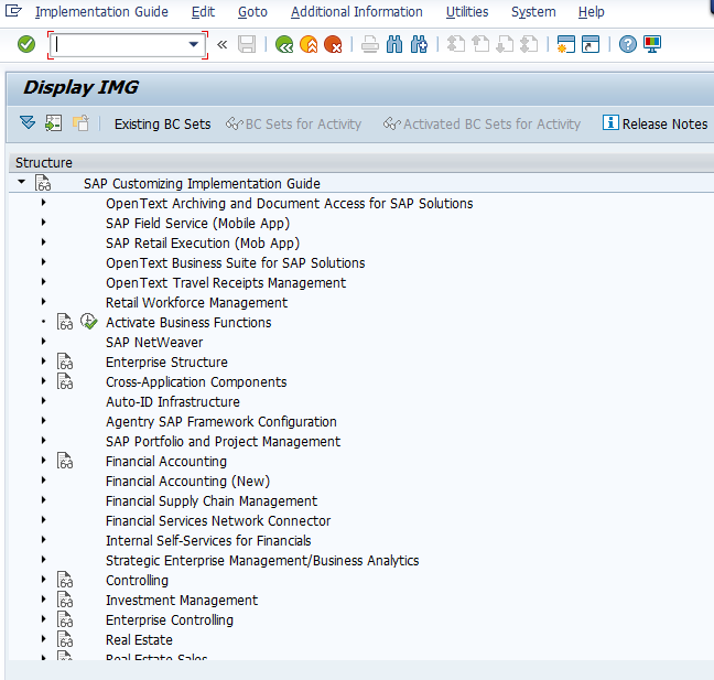 SPRO SAP Implementation Guide IMG