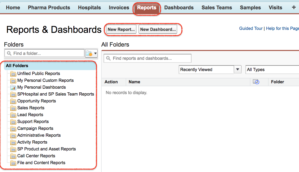 Salesforce Report builder