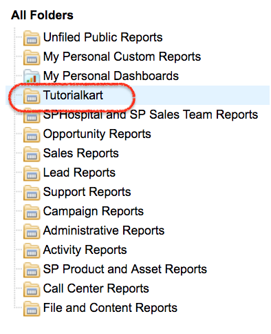 Creating report folder in salesforce