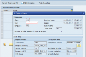 Transaction code for a particular SAP Screen