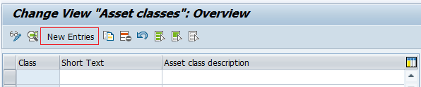 asset classes overview screen