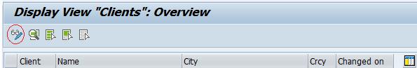 dislay SAP clients