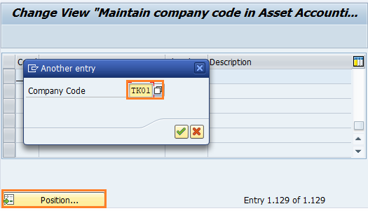 find company code for assignment chart of depreciation