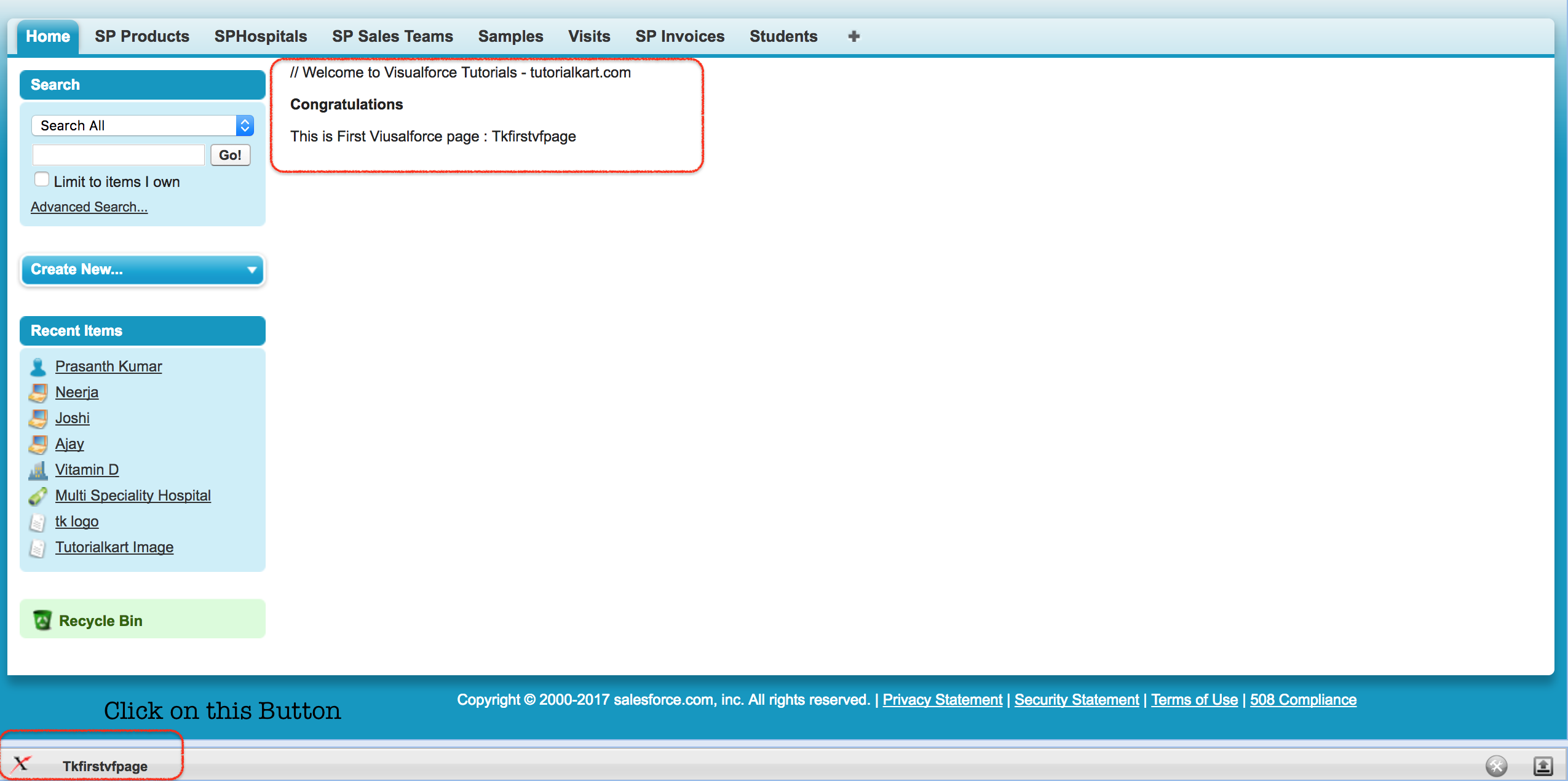 VisuALFORCE PAGE