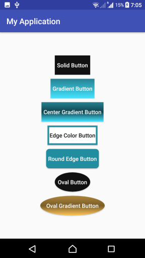 How to create custom design for Button background in Kotlin