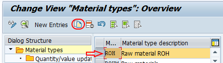 change view material types