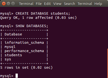 Create a Database in MySQL - MySQL Tutorial - www.tutorialkart.com