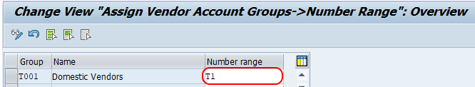 Assign Number Ranges to Vendor Account Groups in SAP