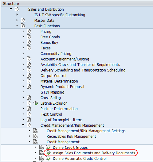 Assign sales documents and delivery documents SAP path