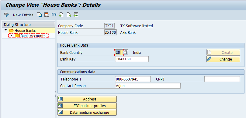 Bank accounts in SAP