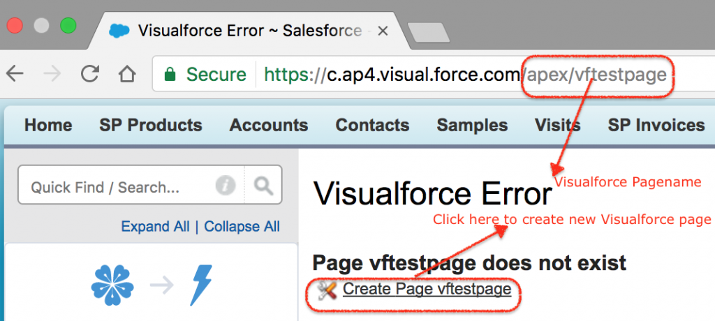 How to create Visualforce Page in Salesforce from URL