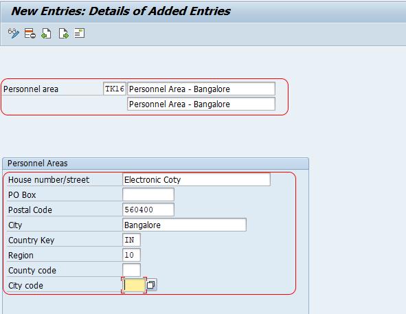 Define Personnel Area in SAP