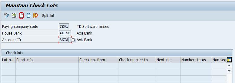 Define number ranges for checks SAP