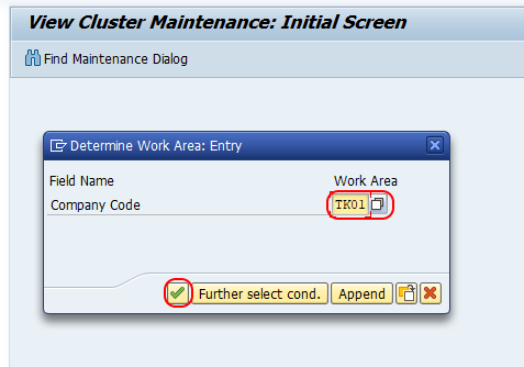 Determine work area for house bank in SAP