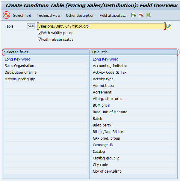 How to Define Condition Table in SAP SD (V/03)