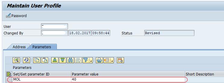 Maintain User Parameters in SAP HR