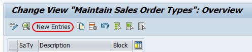Maintain sales order types SAP