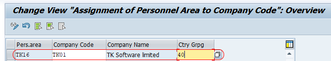 SAP HR - Assign Personnel Area to Company Code
