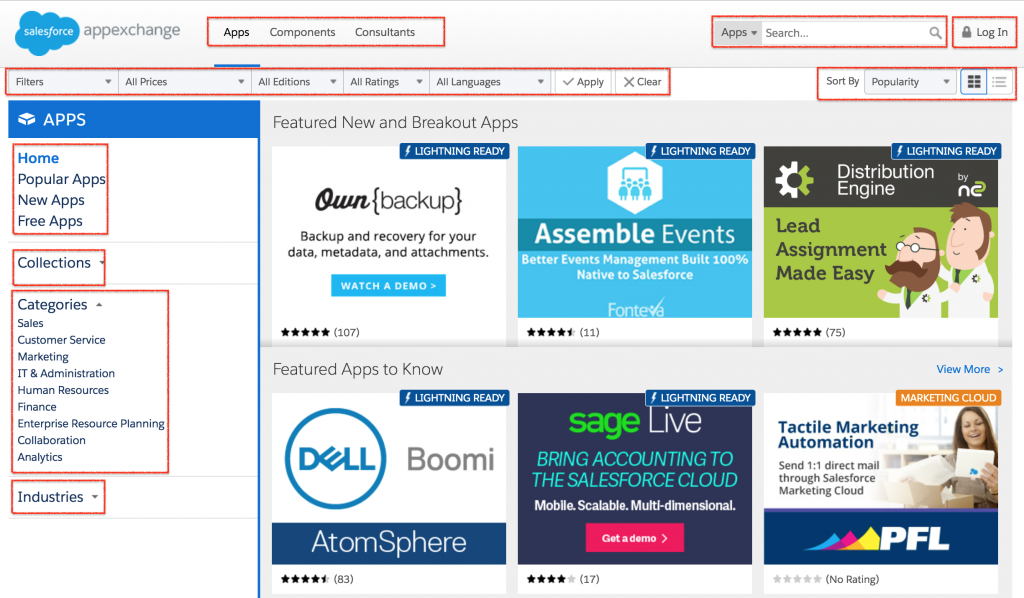 Salesforce Appexchange marketplace
