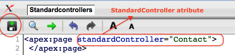 Standard Controllers attribute