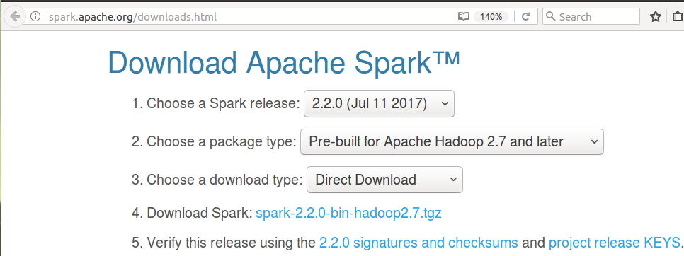 Install latest Apache Spark on Ubuntu 16