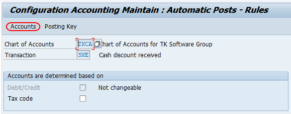 configuration accounting maintain in SAP