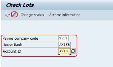 create check lots SAP