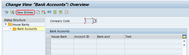 create house bank account id in SAP