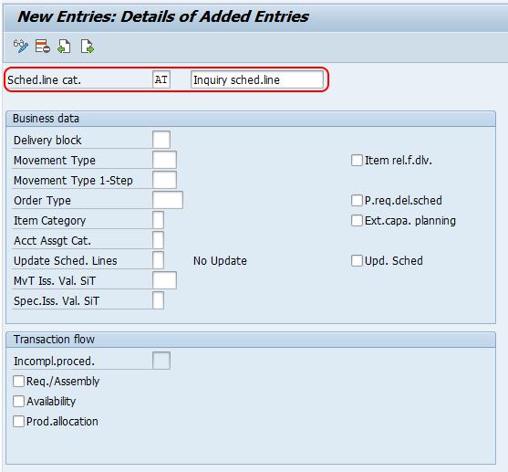 define Schedule Line Categories in SAP