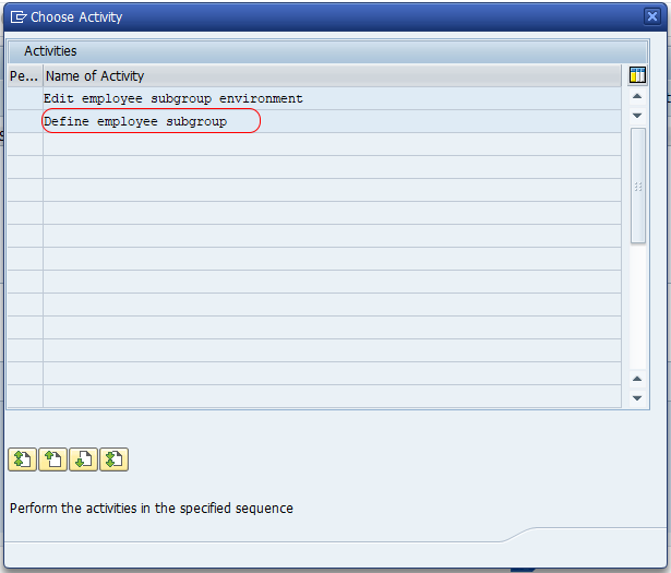 define employee subgroup in SAP