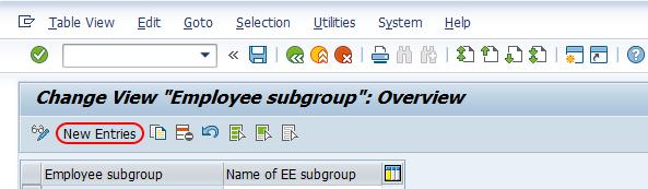 define employee subgroups in SAP