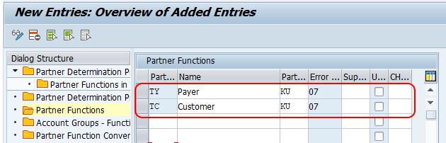 define partner functions SAP