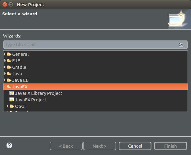 JavaFX Wizard - Install JavaFX in Eclipse - JavaFX Tutorial - Java UI Application - www.tutorialkart.com