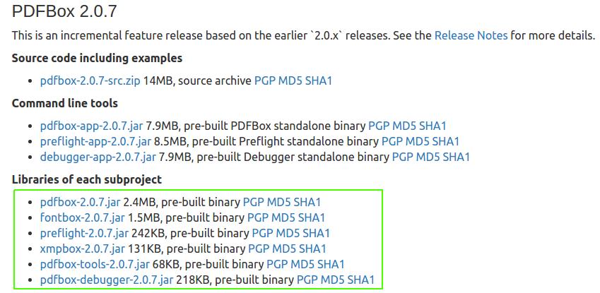 Download PdfBox jars - Setup a Java project with PdfBox - PdfBox Tutorial - www.tutorialkart.com