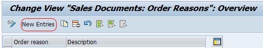 sales document order reasons in SAP