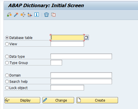 ABAP Workbench - Data dictionary