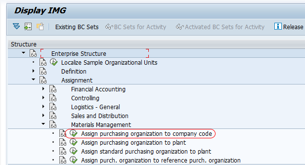 Assign purchase organization to company code SAP