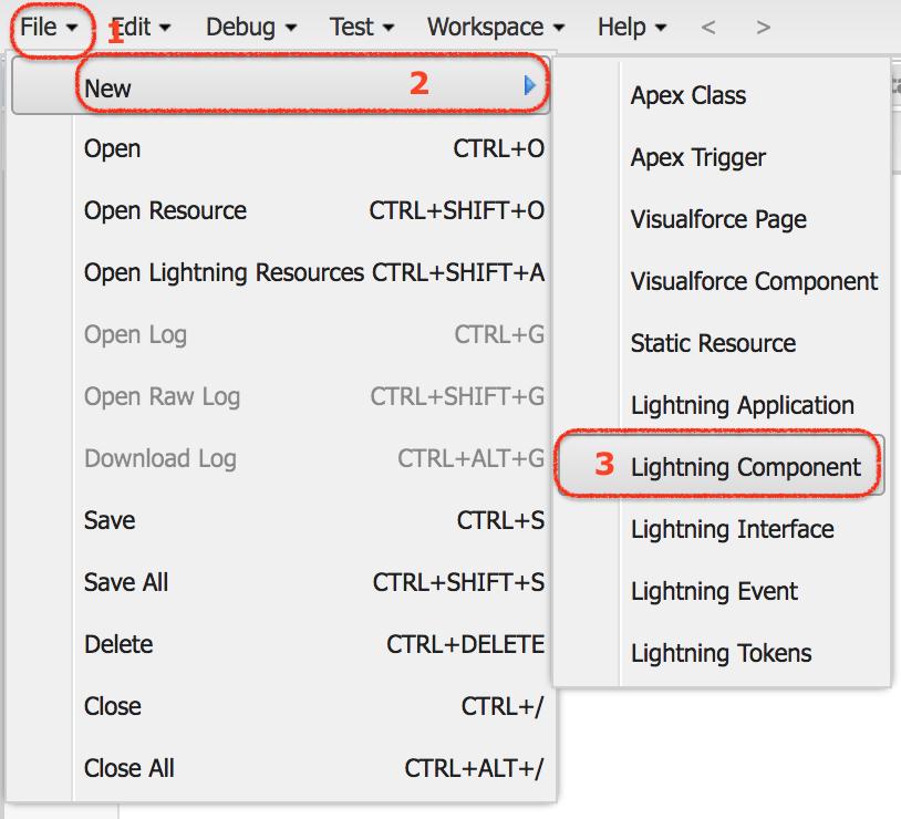 Creating Salesforce lightning component