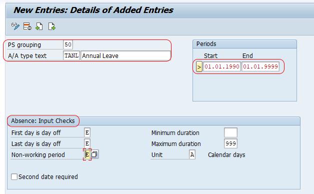 Define Absence Types in SAP HR
