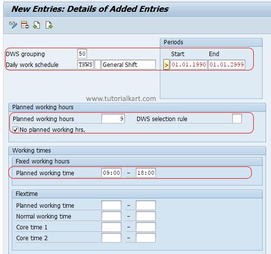 Define Daily Work Schedules in SAP HR