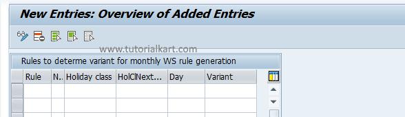 Define Rules for Variant SAP