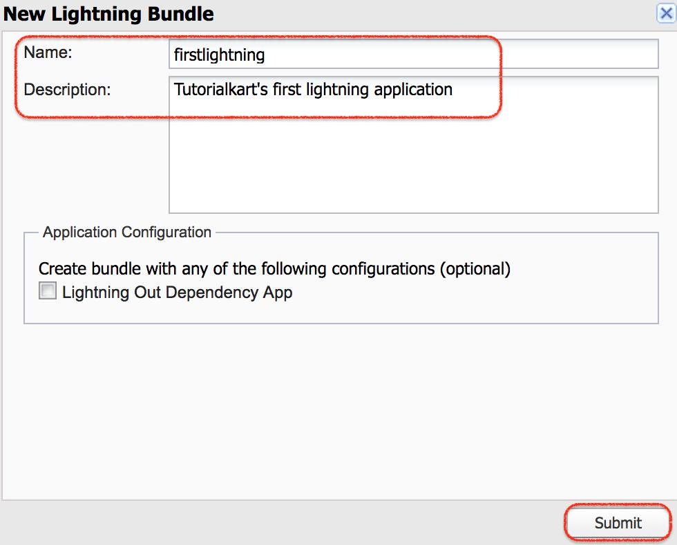 how to create salesforce lightning app