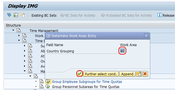 Group ES for Time Quotas SAP