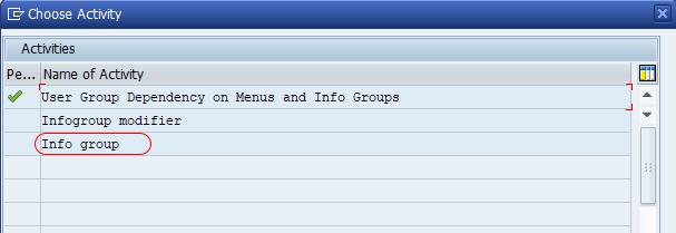 Info group SAP