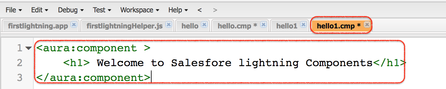Creating first Salesforce Lightning App